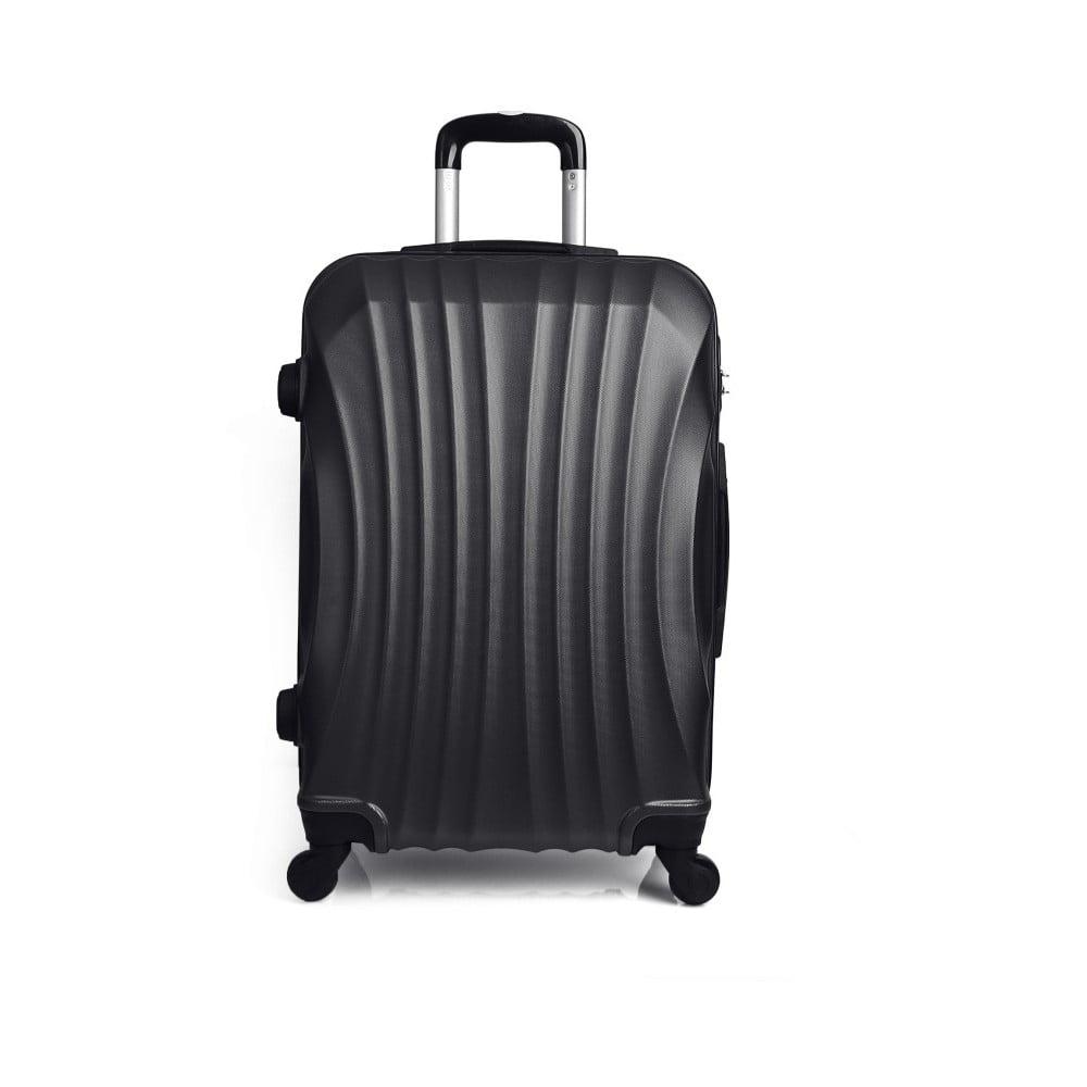 Černý cestovní kufr na kolečkách Hero, 31 l