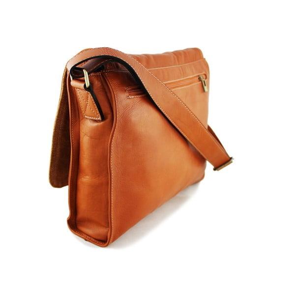 Kožená unisex taška Salesia Cognac