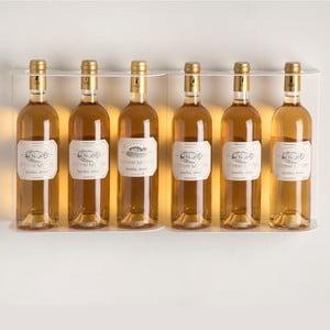 Nástěnné police na víno Teewine White