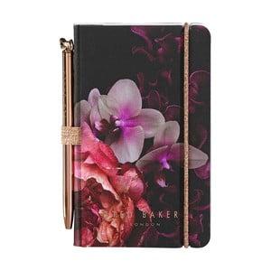 Růžový zápisník s propiskou Ted Baker Splendour