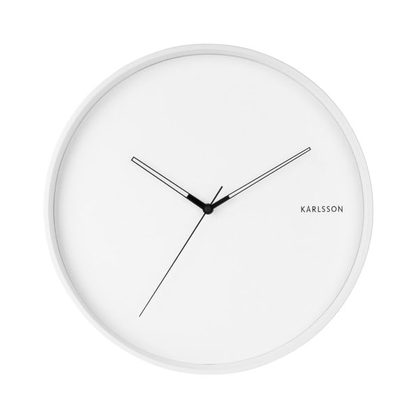 Bílé nástěnné hodiny Karlsson Hue, ø 40cm