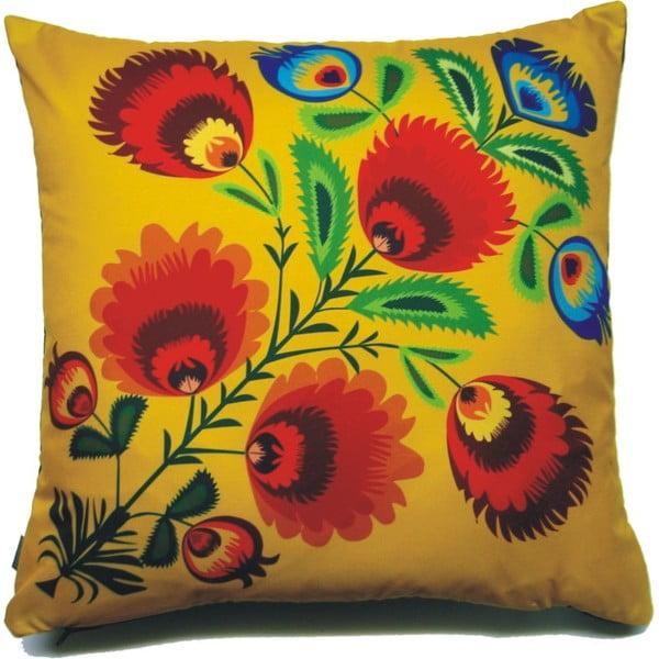 Polštář Žluté květiny, 40x40 cm