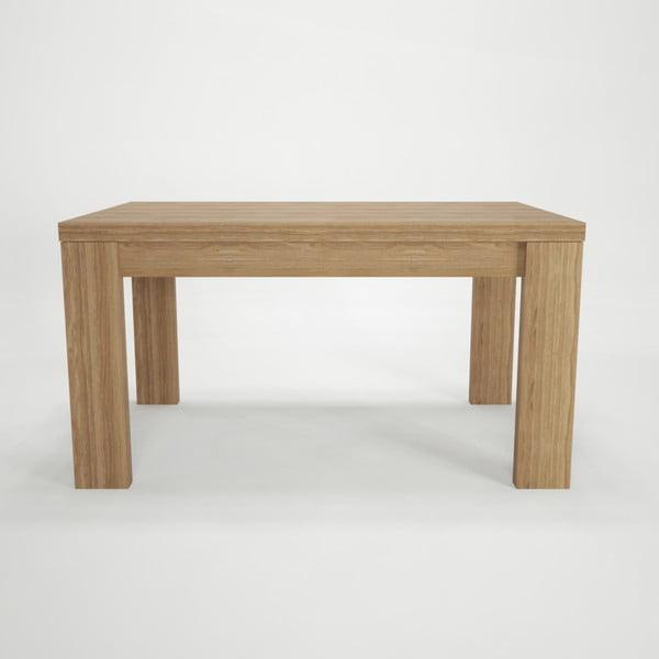 Stół rozkładany z drewna bukowego Artemob, 160x75 cm