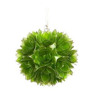 Perleťové závěsné světlo Lotus, zelené