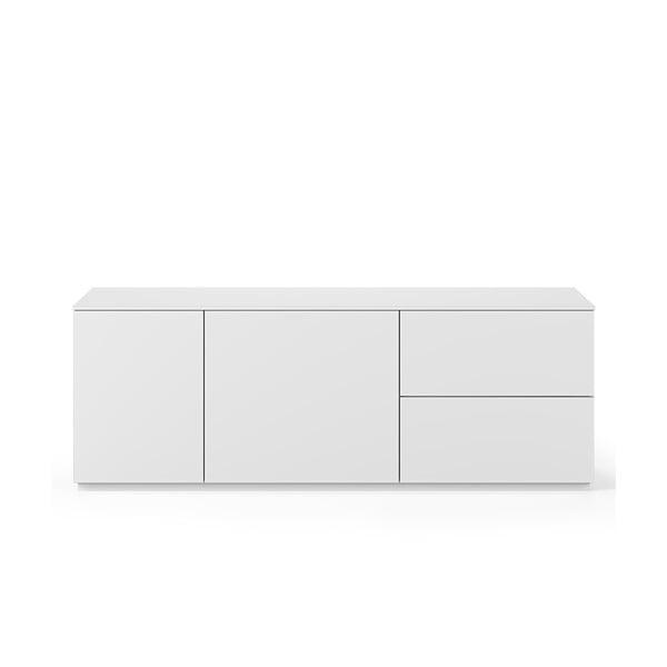 Biała komoda z białym blatem z 2 szufladami i drzwiczkami TemaHome Join