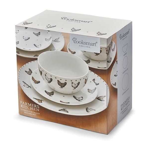 12dílný set nádobí z porcelánu Cooksmart England Farmers Kitchen
