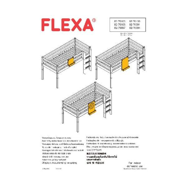 Bílé závěsné zrcadlo k dětské posteli Flexa Classic