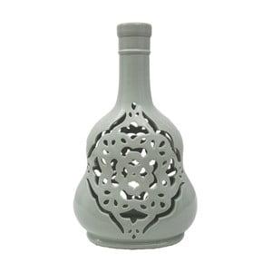 Vază din porțelan Mauro Ferretti Carving, verde-gri