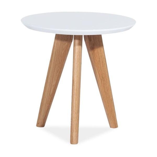 Bílý odkládací stolek Signal Milane