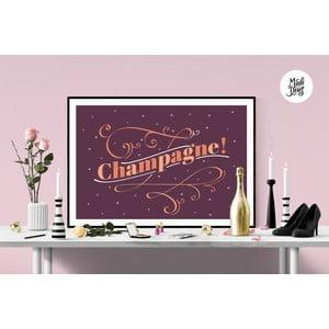 Plakát Champagne! Burgundy, A3