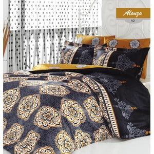 Lenjerie de pat cu cearșaf din bumbac Alonzo, 200x220cm