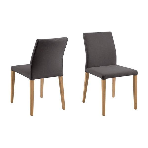 Sada 2 tmavě šedých jídelních židlí Actona Zina Dining Set
