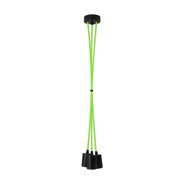 Trojice závěsných kabelů Cero, zelená/černá