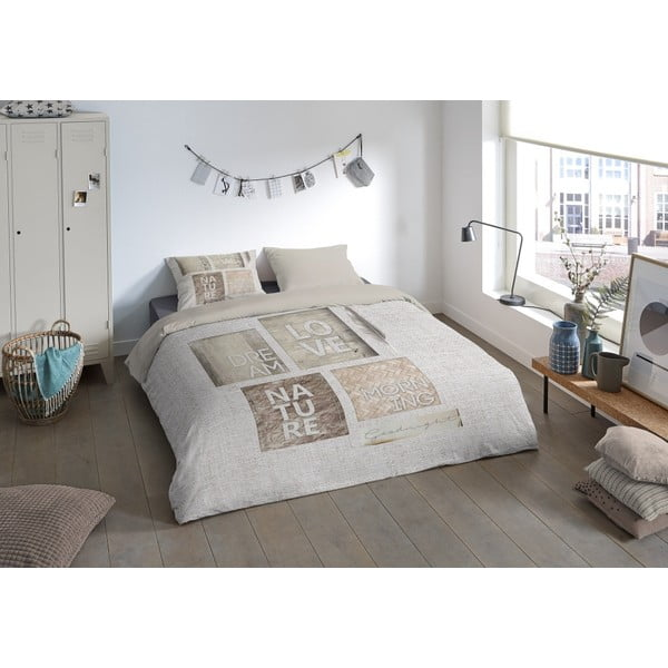 Lenjerie de pat din micropercal Muller Textiels Mina, 200 x 200 cm