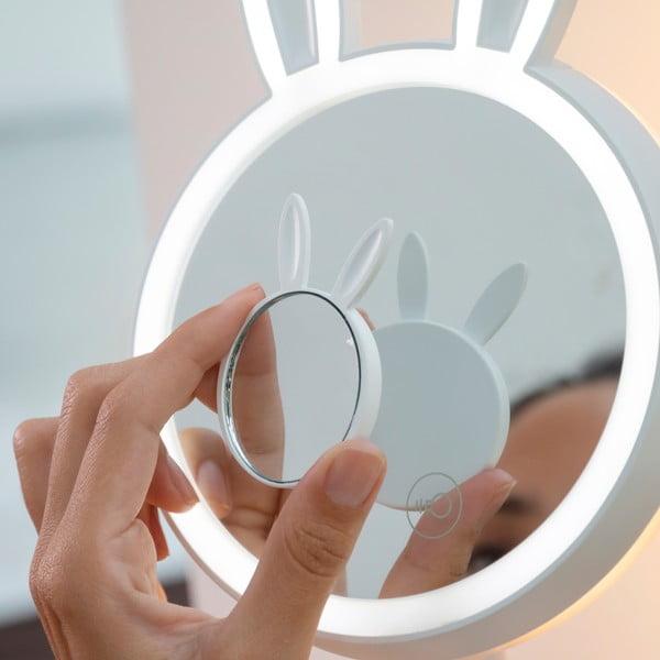 Set stolního a přibližovacího zrcátka s LED osvětlením InnovaGoods Bunny