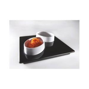 Černý servírovací set Entity, 15x15 cm