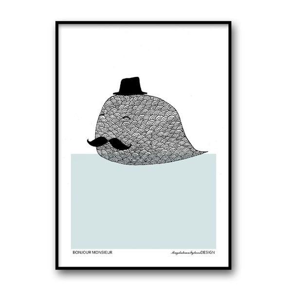 Autorský plakát Bonjour Monsieur, 30x40 cm