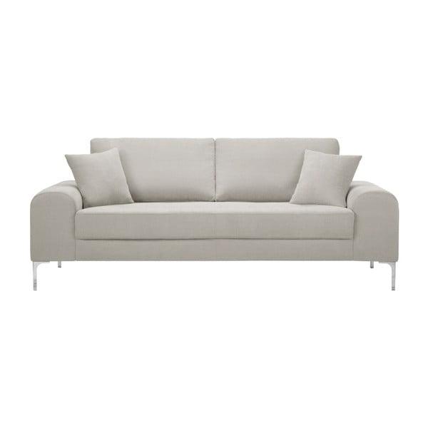 Set canapea crem cu 3 locuri, 4 scaune negre, o saltea 160 x 200 cm Home Essentials