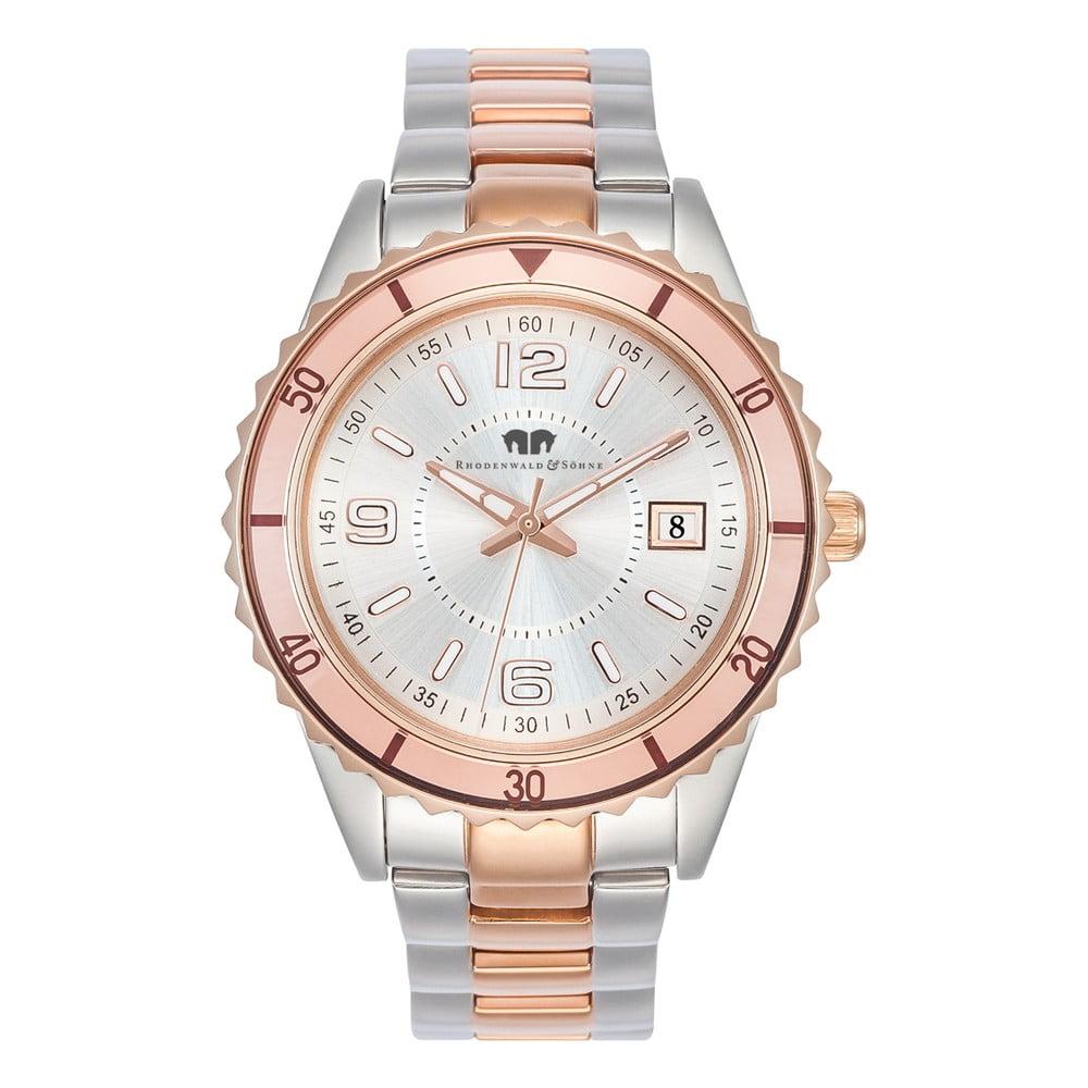 Dámské hodinky ve stříbrné a růžové barvě Rhodenwald   Söhne Majestia 6c38a35e34