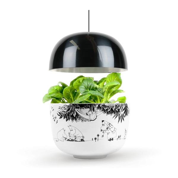 Grădină inteligentă pentru interior Plantui Moomin Smart Garden Black, negru/alb