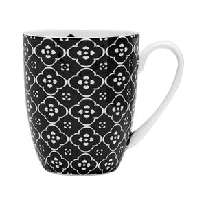 Hrnek z kostního porcelánu Ashdene Amelia Geometric Floral, 350ml