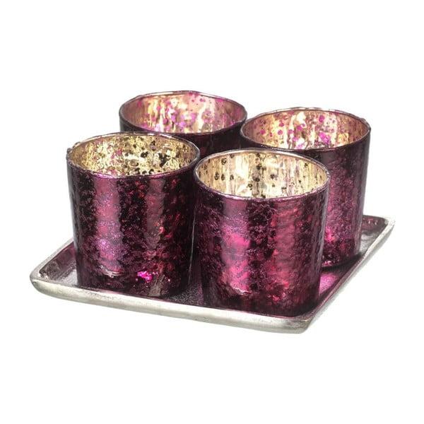 Svícen Glamour Purple