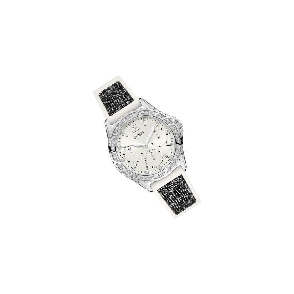 Dámské hodinky s černým silikonovým páskem Guess W1096L1