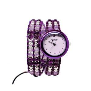 Korálkové hodinky Double, Purple Rain