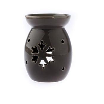 Lampă aromaterapie din ceramică cu model de fulg de nea Dakls, maro imagine