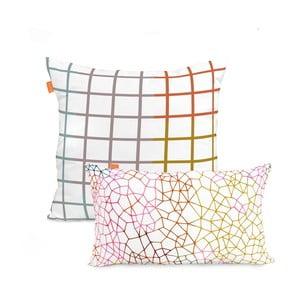Sada 2 povlaků na polštář Blanc Net, 50x50cm