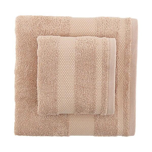 Sada 2 hnědých ručníků Clio