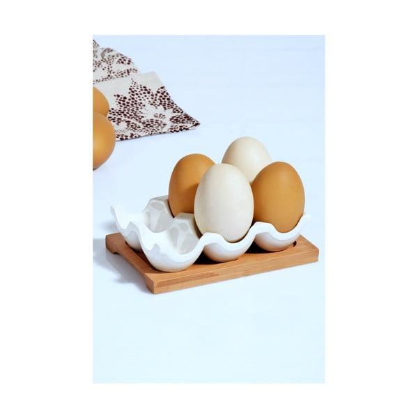 Porcelánový stojan na vajíčka Kosova, 10,5x15x4cm