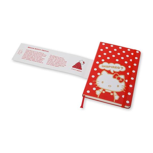 Velký zápisník Moleskine Hello Kitty, bezlinek