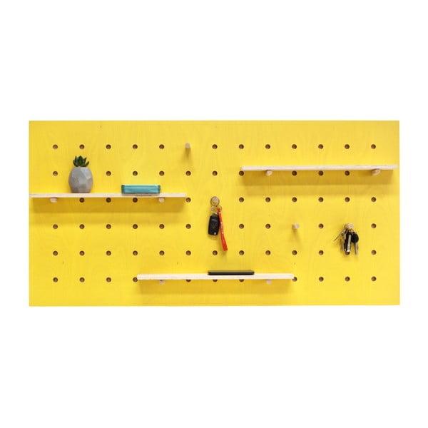 TRIVENTI sárga fali rendszerező, 120 x 60 cm - Ragaba