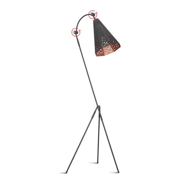 Černá volně stojící lampa Arietis