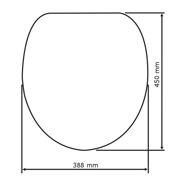 WC sedátko se snadným zavíráním Wenko Seat Monster, 45 x 38,8 cm