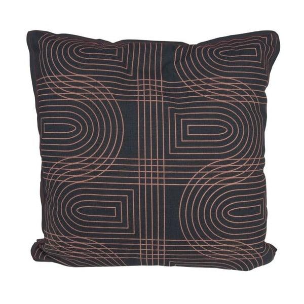 Polštář Retro Grid Black, 45x45 cm