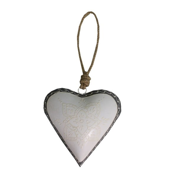 Light Heart szív alakú függődísz, 16 cm - Antic Line