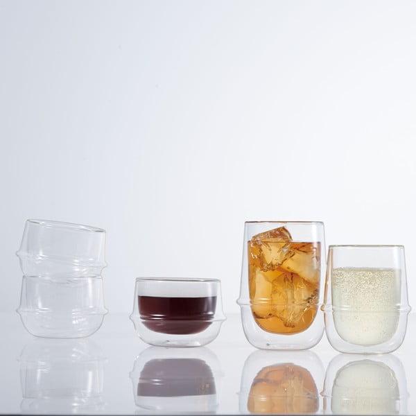 Hrnek na ice tea s dvojitým sklem Kinto Kronos