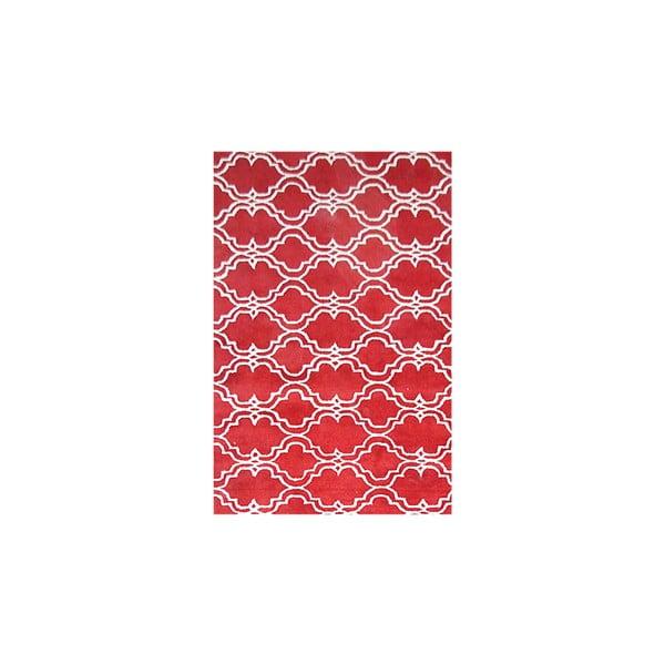 Červený vlněný koberec Bakero Riviera, 183x122cm