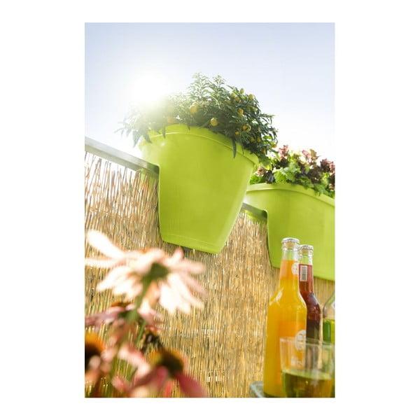 Květináč na zábradlí City Green, 30x30x26 cm