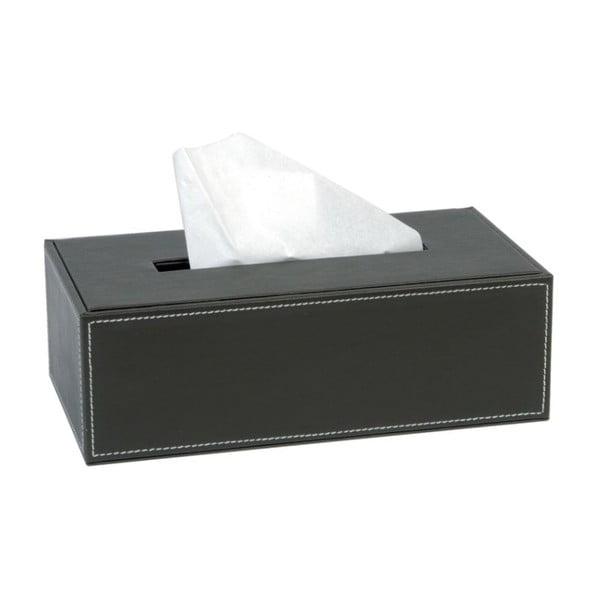 Box na kapesníčky Dark Brown, 8,5x25,5x14 cm
