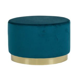 Modrý puf se sametovým potahem Santago Pons Golden