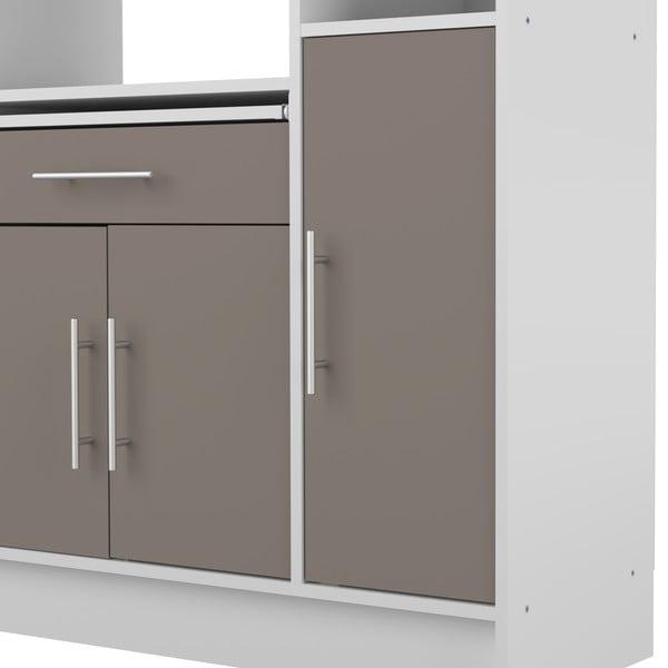Šedý kuchyňský úložný systém s policemi Symbiosis Louise