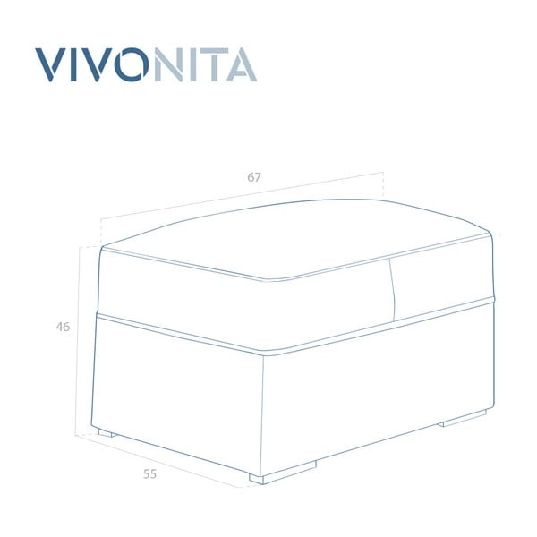 Krémově bílá podnožka Vivonita Jane