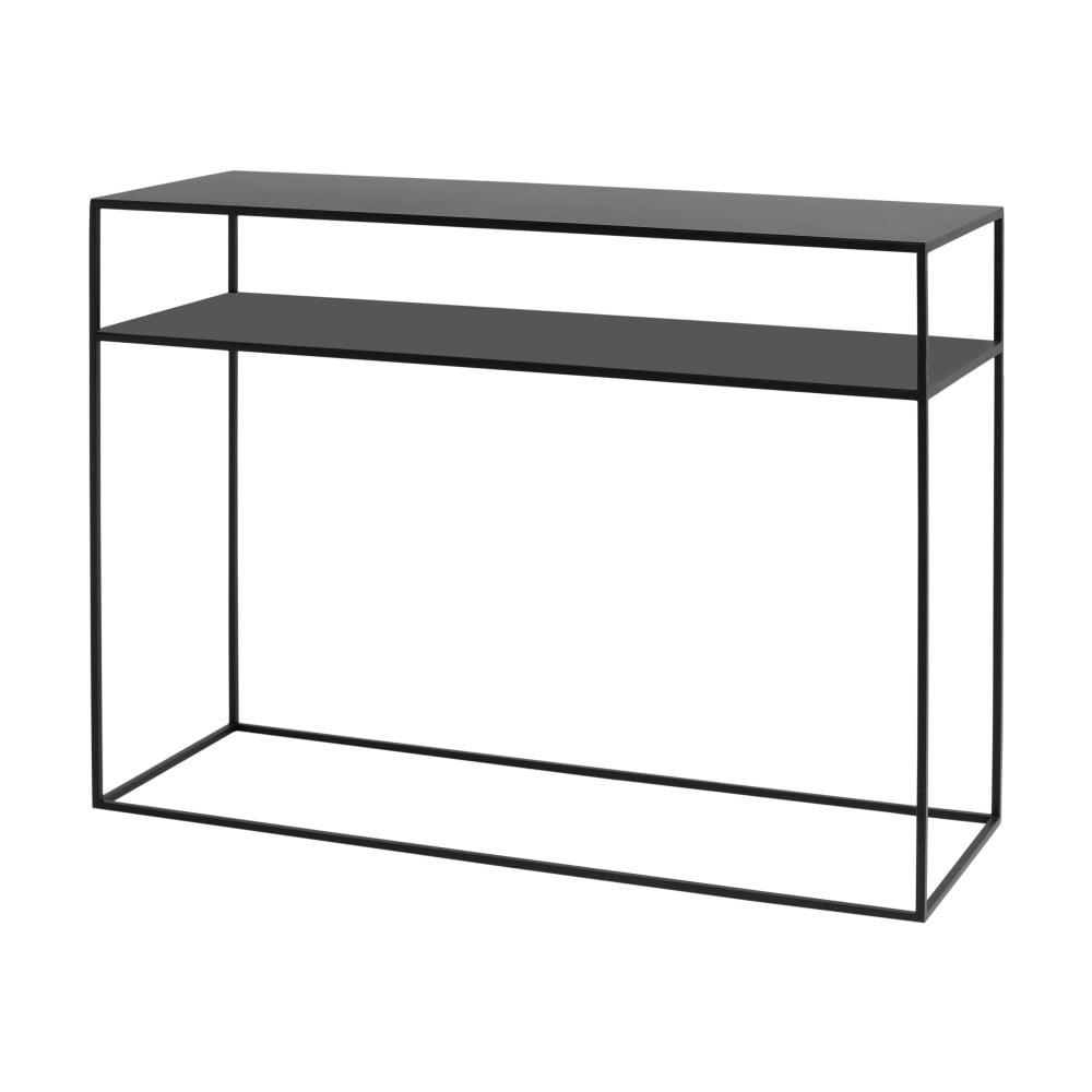 Černý konzolový stolek Custom Form Tensio, délka100cm