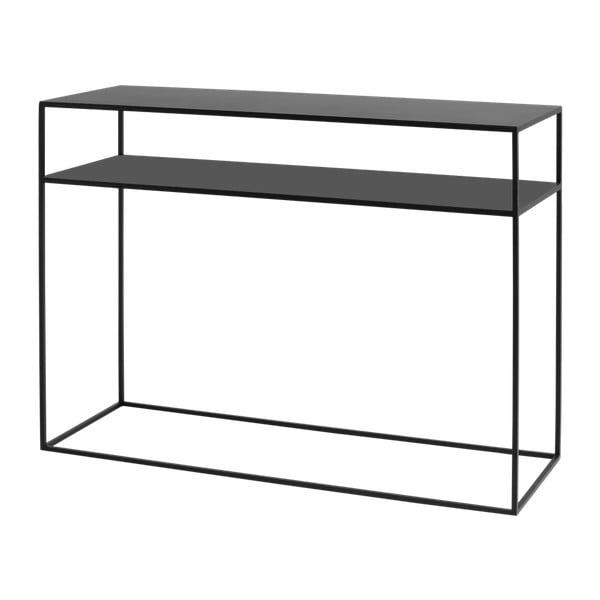 Tensio fekete konzolasztal, hosszúság 100 cm - Custom Form