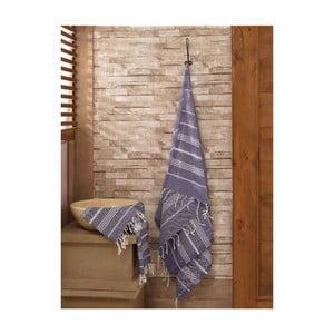 Sada tmavě modrého ručníku a osušky Hammam Sultan