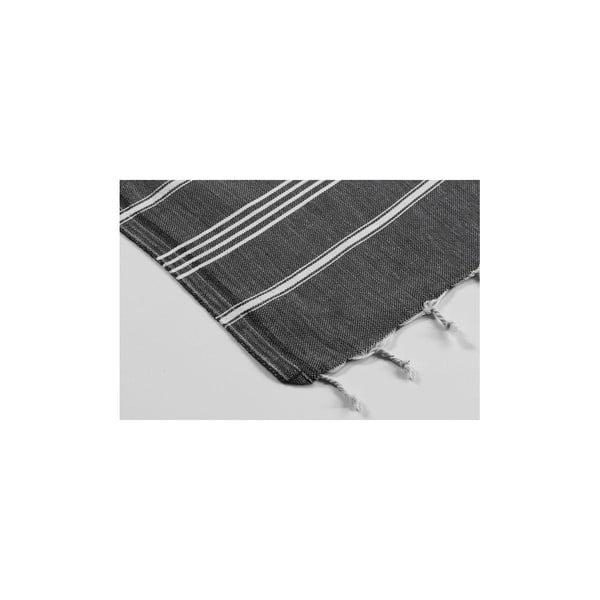 Hammam osuška Sabba Black, 100x180 cm