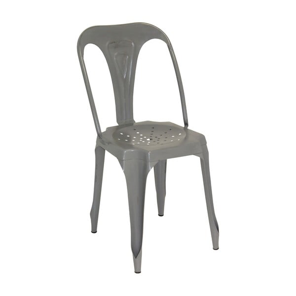 Kovová židle Grey Metal